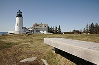 Pemaquid Point Light during the spring months  Located in Bristol, Maine USA, which is on the New England seacoast  Notes: This light is located at th...