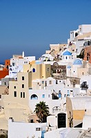 Traditional houses at Ia village at Santorini island, Greece