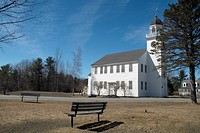 Canaan Meetinghouse which was built in 1793 by William Parkhurst  Located in historical Canaan, New Hampshire, USA, which is part of New England   Not...