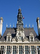 Hotel de Ville Town Hall, Detail, Paris, France