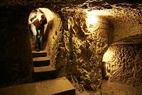 Underground town Derinkuyu, Cappadocia, Turkey