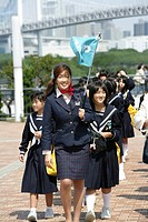 School excursion, Odaiba, Tokyo, Japan, Asia
