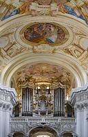 Organ pipes in Convent St. Florian, St. Florian, Upper Austria, Austria