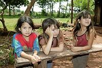 Three girls, Asuncion, Paraguay, South America