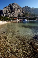 Beach near Omis at the Makarska Riviera, Croatia, Europe