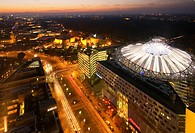 Aerial view of Sony Center, Potsdamer Platz, Berlin