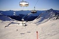 Ski lift, Parsenn ski area, Davos, Grisons, Switzerland