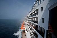 Decks of the cruise liner Queen Mary 2, Transatlantic, Atlantic ocean