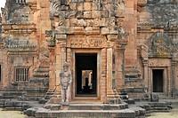 Shivas Lingam in the main tempel, Prasat Hin Khao Phanom Rung, Khmer Temple in Buriram province, Thailand, Asia
