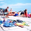 swimming spot in dubrovnik, croatia, dalmatia, adriatic sea