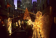 Holiday decoration at Rockefeller Center, 5th Avenue, Manhattan