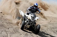 Yamaha Quad in action