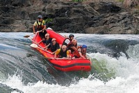 Whitewater rafting on the Victoria Nile, Uganda, Africa
