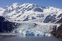 Surprise Glacier in Harriman Fjord, Prince William Sound, Alaska. summer.