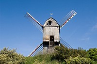 The wooden South dunes mill _ South abbey mill, Koksijde, Belgium