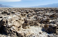 Crusts of salt at the Devils Golf Course, Death Valley National Park, California, USA