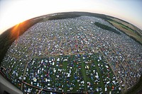 More than 50000 raver are camping near a techno_party near Kastellaun , Rhineland_Palatinate, Germany