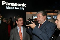 SPD Chairman Kurt Beck during the IFA with Peter Weber, Panasonic Manager Corporate Communications Europe with Berlin, Germany