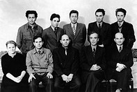 Institute for Physical Problems team. Group portrait of the Theoretical Division department within the Institute of Physical Problems at the Russian A...