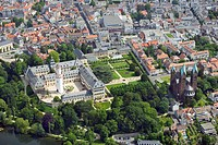 palace of Bad Homburg with Erloeserkirche, Germany, Hesse, Bad Homburg