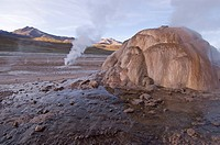 Geyser at the geyserfiel of El Tatio, Chile