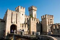castle Castello Scaligero, Italy, Veneto, Sirmione