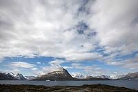 tent at coast of Ikasaulaq Fjord, Greenland, Ammassalik, East Greenland, Kuummiit