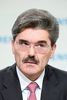 Jo Kaeser, the chief financial officer of the Siemens AG, during the press conference on financial statements on the 13.11.2008 in Munich, Bavaria, Ge...