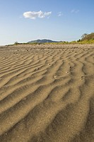 Pattern made by sand ripples along the shore of Playa Grande, Costa Rica