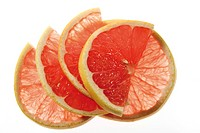 Ruby grapefruit slices