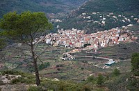 Overview and Comprehensive Gátova City. Comunidad Valenciana. Spain
