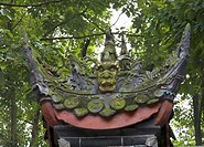 Green Dragon Statue Garden Baoguang Si Shining Treasure Buddhist Temple Chengdu Sichuan China