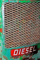 Detail of an old diesel tractor