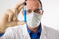 Man working on an experiment in a laboratory