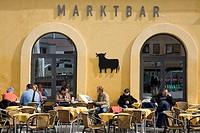 Austria. Tyrol. Innsbruck. Marktbar in downtown.