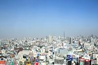 Japan, Tokyo Prefecture, Shinjuku Ward, View of cityscape