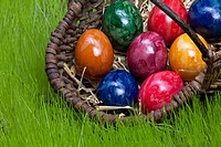 Easter eggs in a basket / Ostereier im Korb