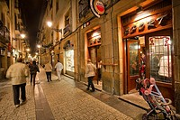 Fermin Calbeton street, San Sebastian, Guipuzcoa, Basque Country, Spain