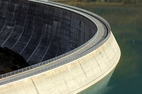 Arch dam Moiry, Valais, Switzerland