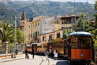 Sóller. Mallorca. Balearic Island. Spain. Sóller Railway is an interurban railway and running between the towns of Sóller and Palma on the Spanish isl...