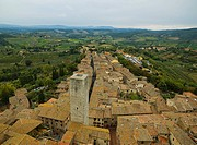 Aerial view of San Gimignano, Italy