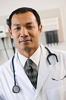 Portrait of doctor in clinic examination room, Orangeville, Ontario