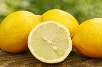 Lemons in natural background
