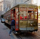 Tram in New Orleans, which has the oldest continuously operating street railway system in the world  Louisiana, USA