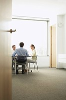 Businesspeople in Meeting in modern office (thumbnail)