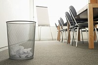 Trash Can in Empty Meeting Room (thumbnail)