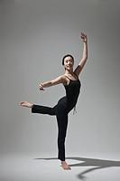 woman doing yoga, studio