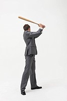 Businessman with Baseball Bat