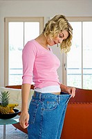 woman making successful diet