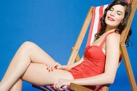 Woman in deckchair